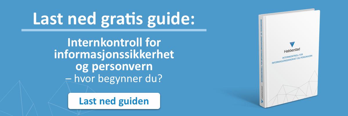 Last ned gratis guide om IT-sikkerhet og personvern